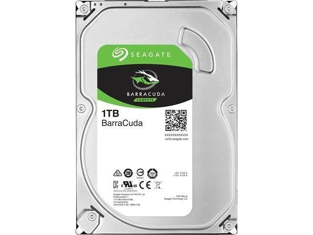 Seagate Dysk BarraCuda, 3.5'', 1TB, SATA/600, 7200RPM, 64MB cache