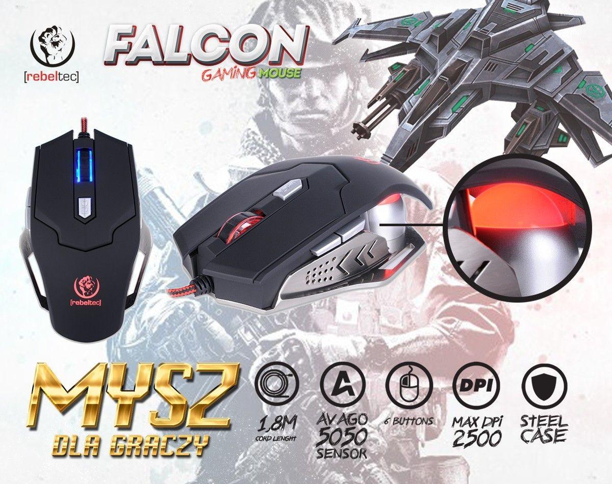 rebeltec Gamingowa mysz optyczna USB FALCON