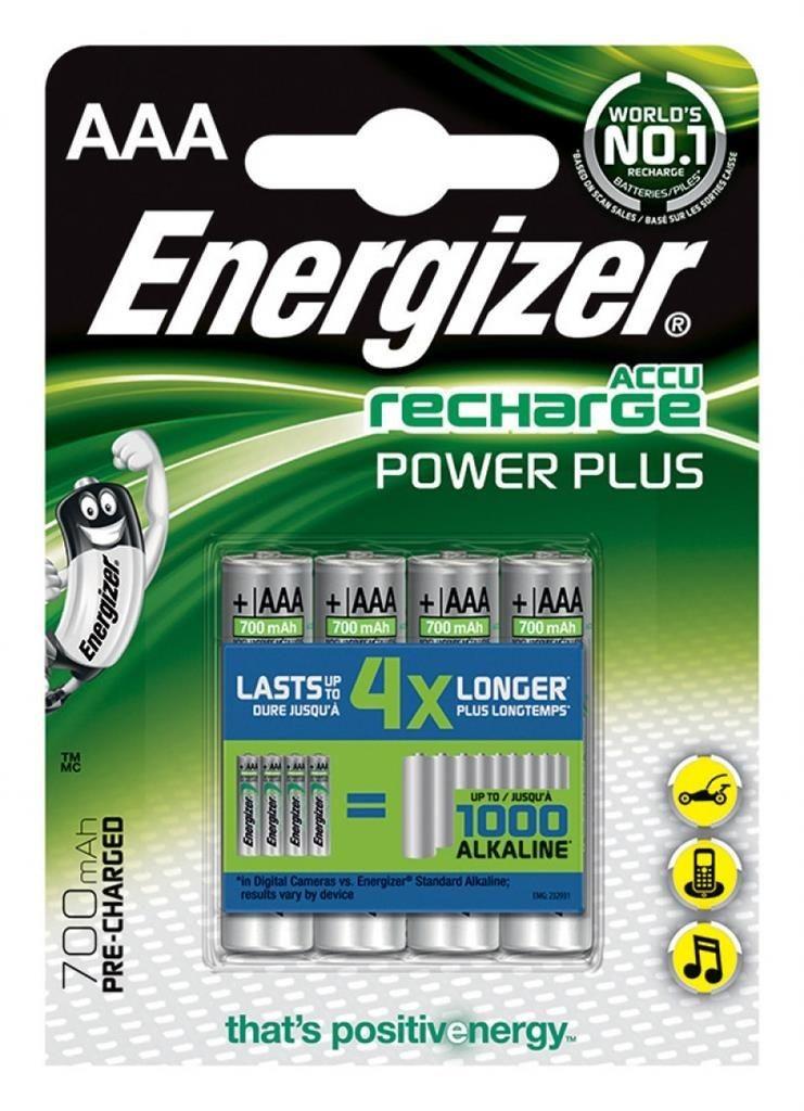 Energizer AKUMULATORKI POWER PLUS LR03 AAA 700 mAh 4 SZT BLISTER
