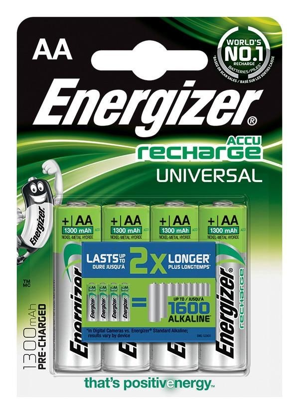 Energizer AKUMULATORKI UNIVERSAL LR6 AA1300 mAh 4SZT BLISTER