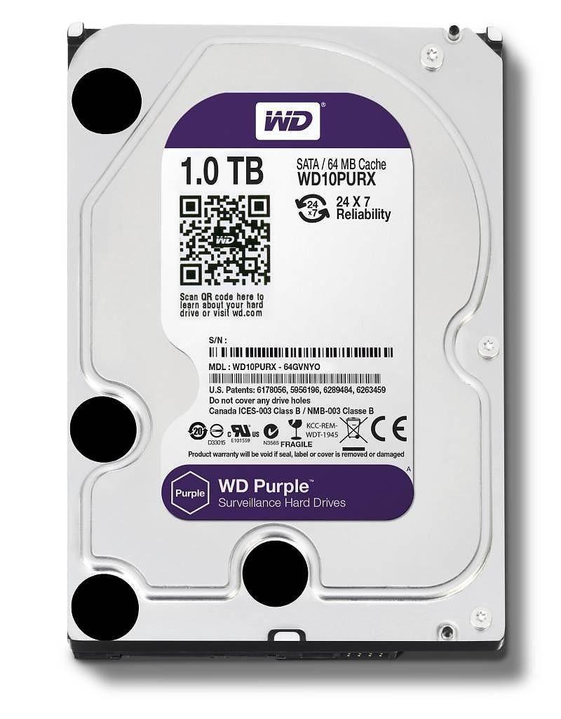 Western Digital HDD Purple 1TB 3,5'' 64MB SATAIII/5400rpm
