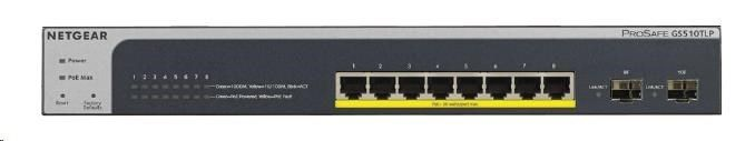 Netgear Przełącznik Smart GS510TLP 8x1Gb PoE+ (75W) 2xSFP