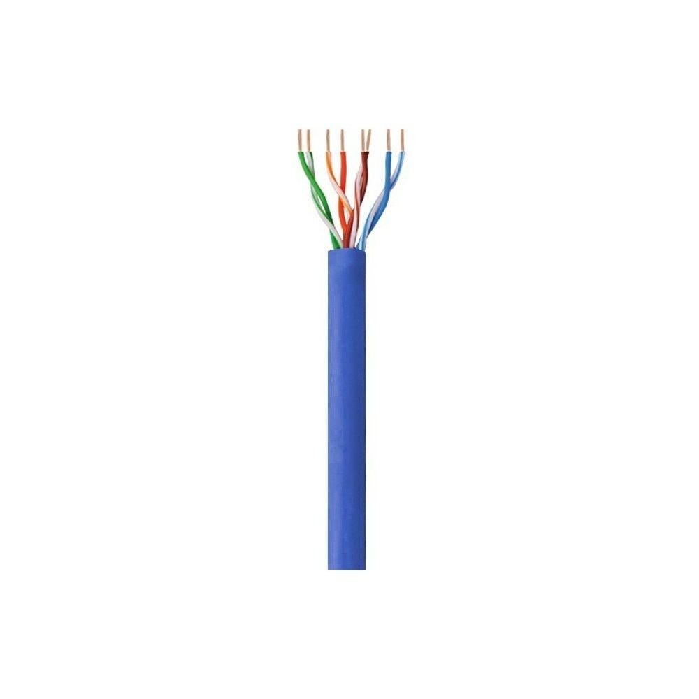Techly Kabel instalacyjny skrętka UTP Cat6 4x2 drut CCA 305m niebieski
