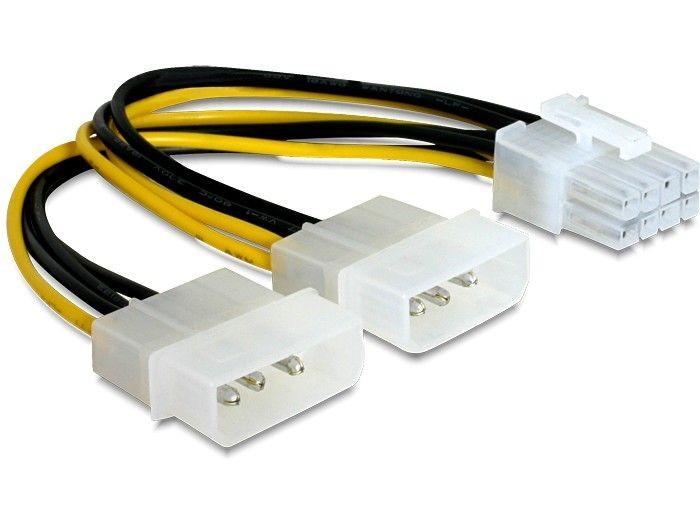 DeLOCK kabel rozdzielacz zasilania 2xHDD/1xPCI-E 8pin
