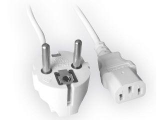 Gembird PC-186W-VDE kabel zasilający komputerowy VDE Euro/IEC C13 1,8m (gruby) biały