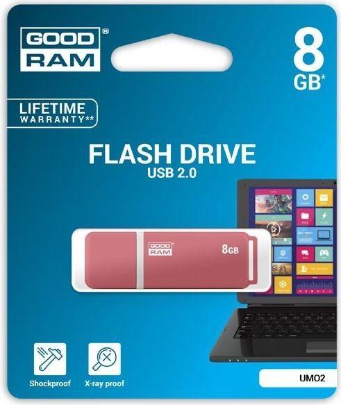 GoodRam Pamięć USB UMO2 8GB USB 2.0 Pomarańczowa