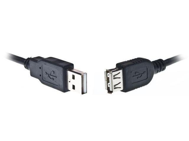 Gembird AM-AF kabel przedłużacz USB 2.0 1.8m (niklowane końce, czarny)