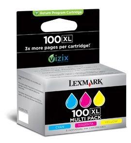 Lexmark tusz No 100XL CMY (zwrotne, seria S/ Pro206/ Pro705)