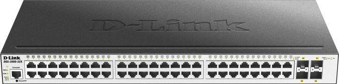 D-Link DLINK DGS-3000-52X 48-Port 10/100/1000Mbps port and 4 10G SFP+ Managed Gigabit Switch
