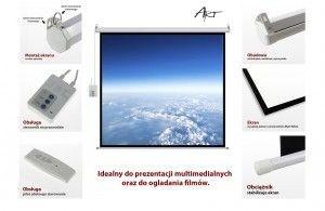 ART Ekran elektryczny 4:3 120' 244x183cm z pilotem FS-120 4:3