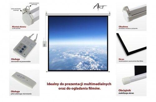 ART EL F100 4:3 EKRAN ELEKTRYCZNY 4:3 100 203x152cm z pilotem FS-100 4:3