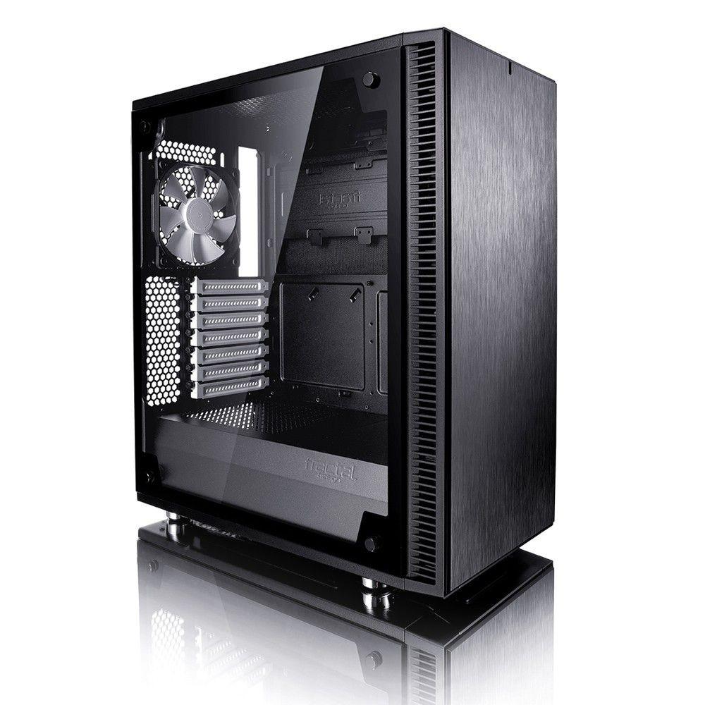 Fractal Design Define C TG Black 3.5'HDD 2.5'SDD uATX/ATX/ITX