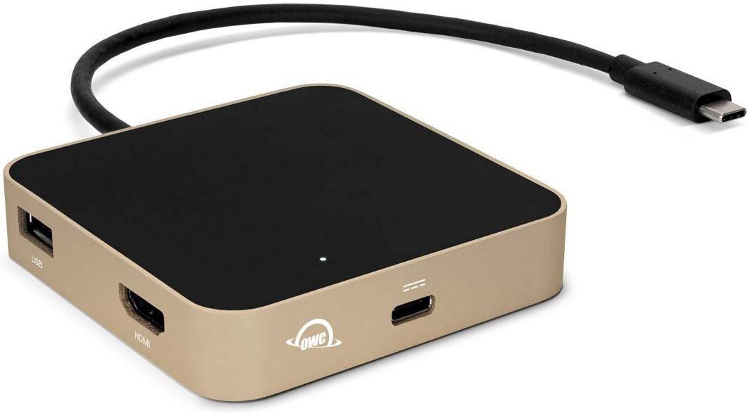 OWC USB-C Travel Dock (5 portów, pass through 60W) Gold