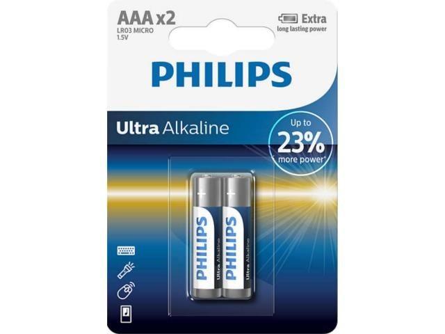 Philips Bateria alkaliczna LR03 AAA Ultra (2 szt)