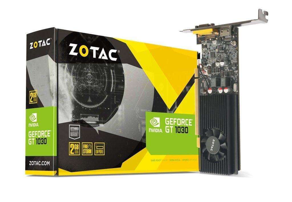 Zotac GeForce GT 1030 - Grafikkarten - GF GT 1030 - 2 GB Beschleunigen Sie Ihre gesamte Arbeit am PC mit der schnellen, leistungsstarken NVIDIA GeForce GT 10