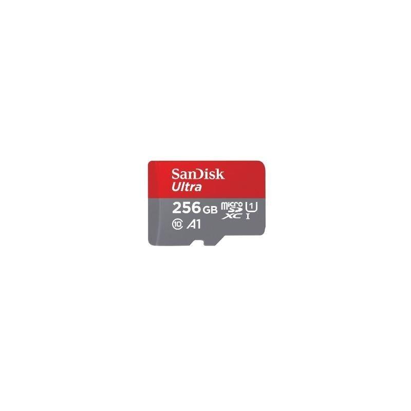 SanDisk Karta Ultra microSDXC 256GB 100MB/s A1 + adapter SD
