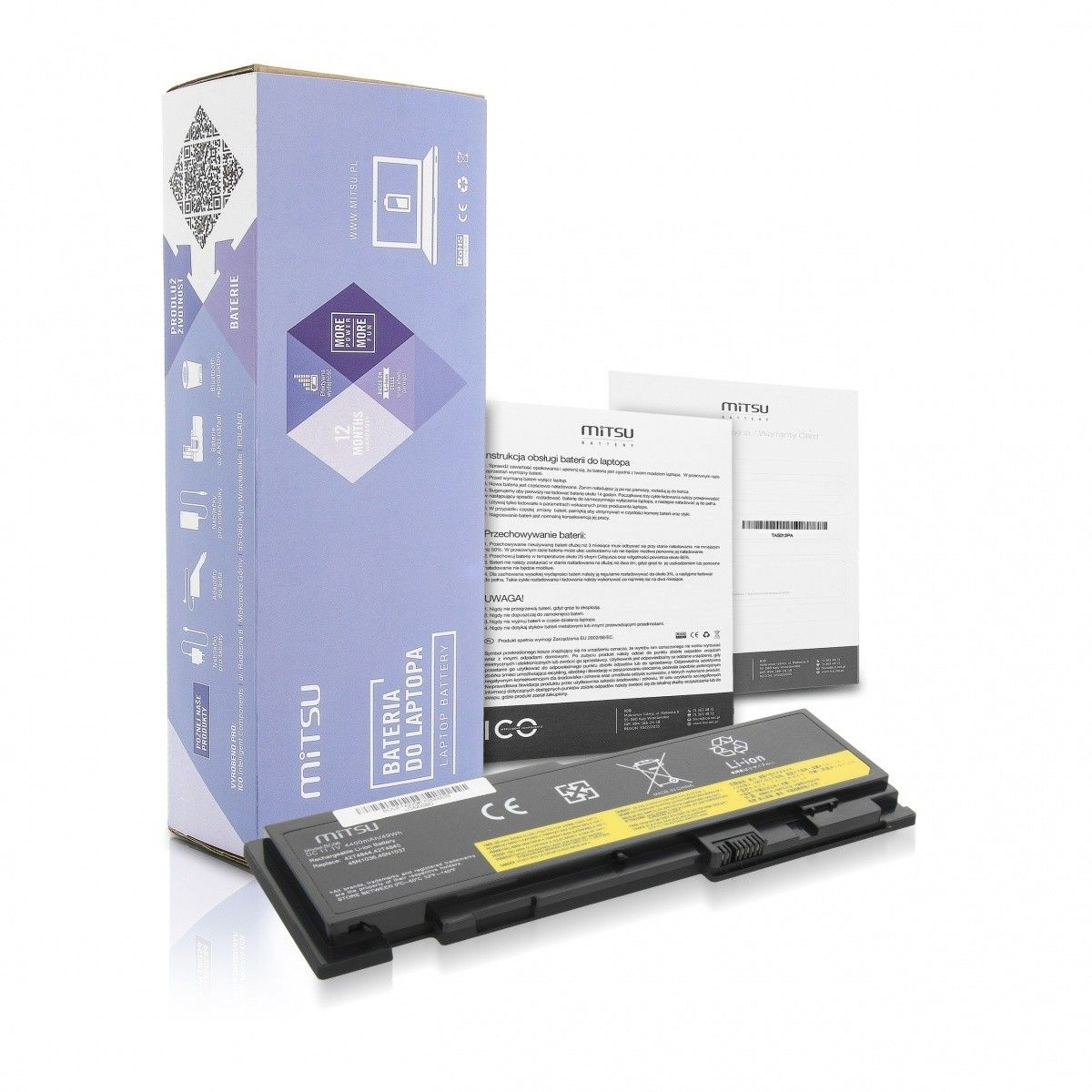 Mitsu Bateria do Lenovo Thinkpad T420s 3600 mAh (40 Wh) 10.8 - 11.1V