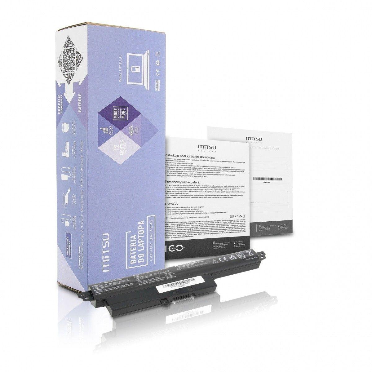Mitsu Bateria do Asus Vivobook S200, X200 2200 mAh (24 Wh) 11.25 Volt