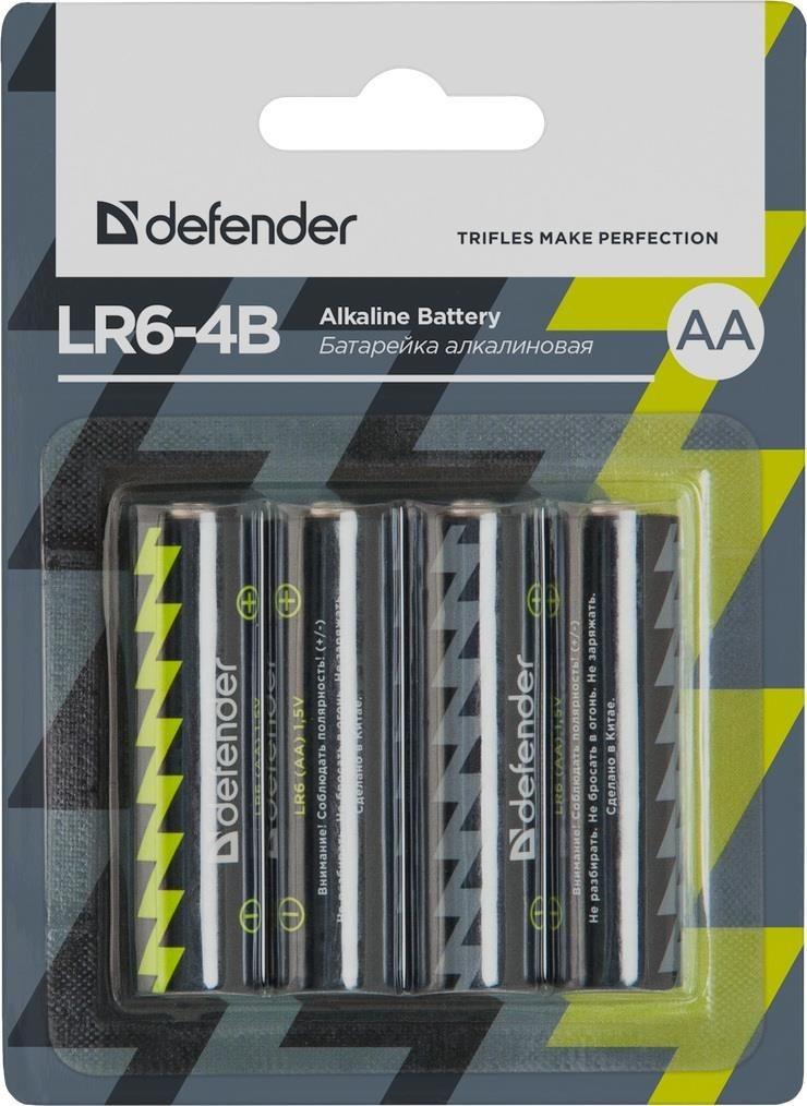 Defender Baterie alkaliczne LR6-4B AA - 4 szt blister