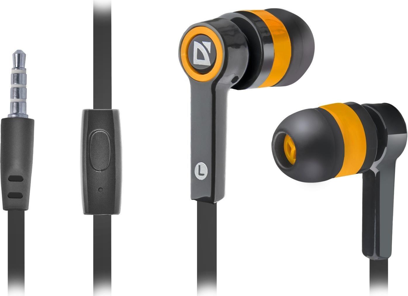 Defender Słuchawki z mikrofonem PULSE 420 douszne 4-pin czarno-pomarańczowe