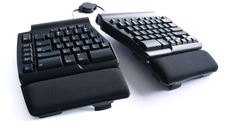 Matias Ergo Pro klawiatura mechaniczna ergonomiczna hub 3xUSB czarna