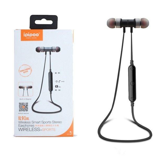 ipipoo iL91BL Czarne by AWEI douszne słuchawki bezprzewodowe Bluetooth 4.2