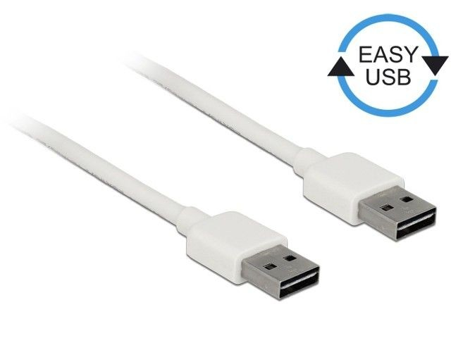 DeLOCK Kabel USB AM-AM 2.0 0.5m biały Easy USB