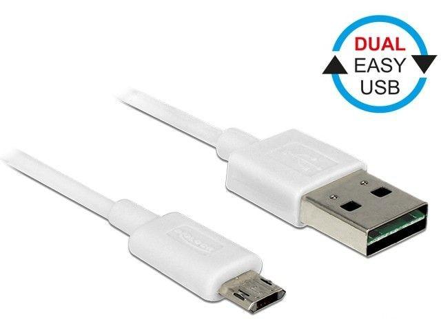 DeLOCK 85204 Delock Kabel USB Micro AM-BM 2.0 3m Biały Dual Easy-USB