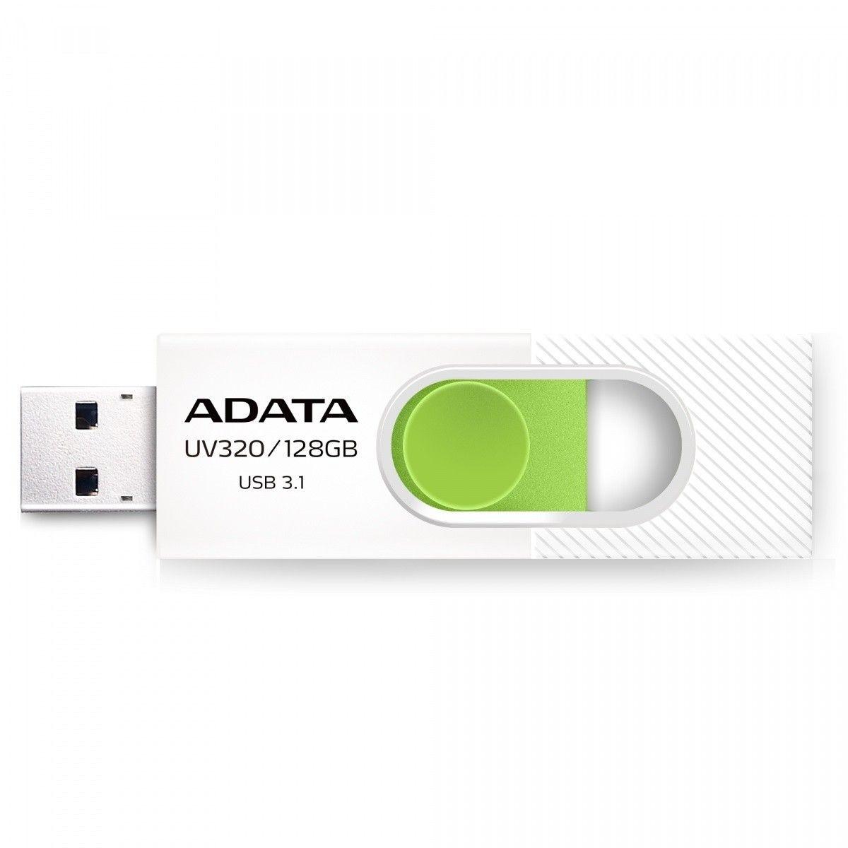 A-Data Pendrive UV320 128G USB 3.2 Gen1 Biało-zielony