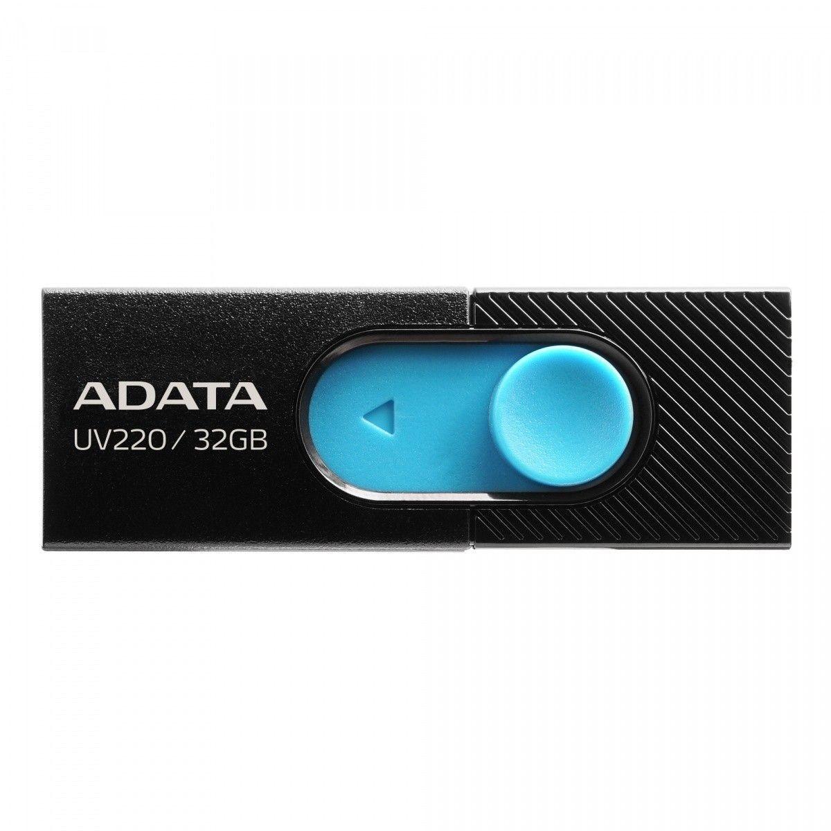 A-Data Pendrive UV220 32GB USB2.0 Czarno-niebieski