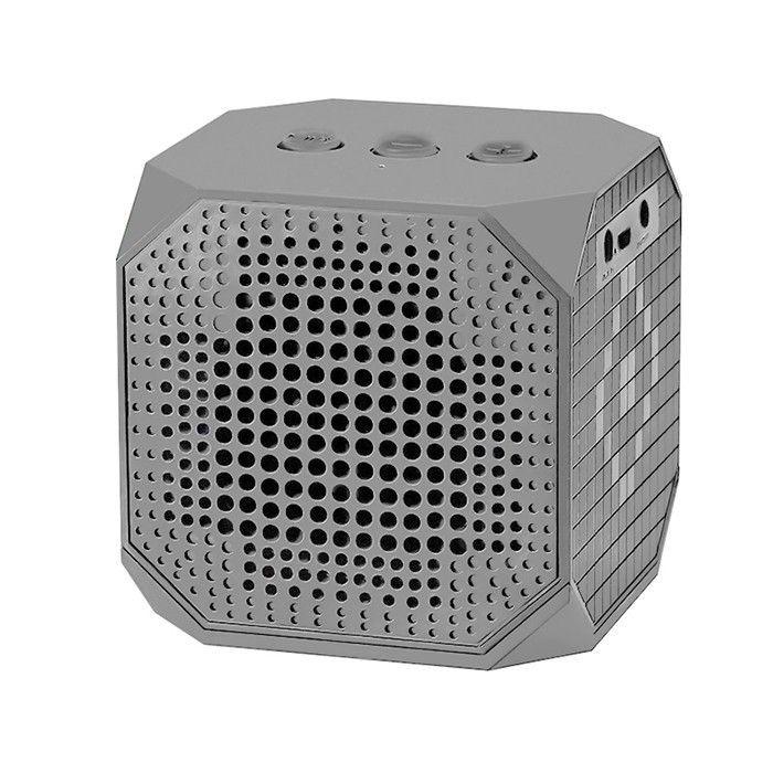 Qoltec Głośnik Bluetooth przenośny   3W   Double Speaker   Szary