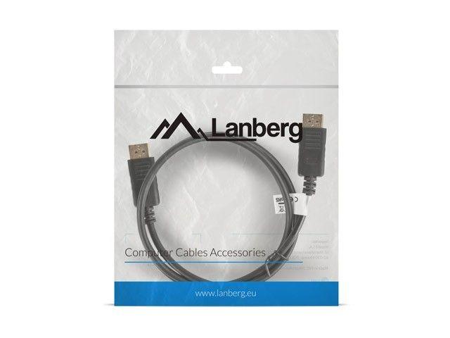 LANBERG Kabel DisplayPort M/M 4K 1M czarny