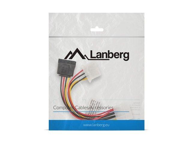 LANBERG Kabel Molex zasilający - Molex + SATA M/F 15cm