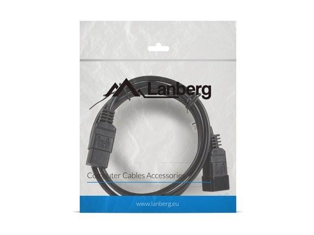 LANBERG Przedłużacz kabla zasilającego IEC 320 C19 - C20 VDE 1.8M VDE czarny