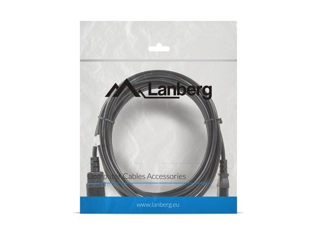 LANBERG Przedłużacz kabla zasilającego IEC 320 C13 - C14 VDE 5M czarny