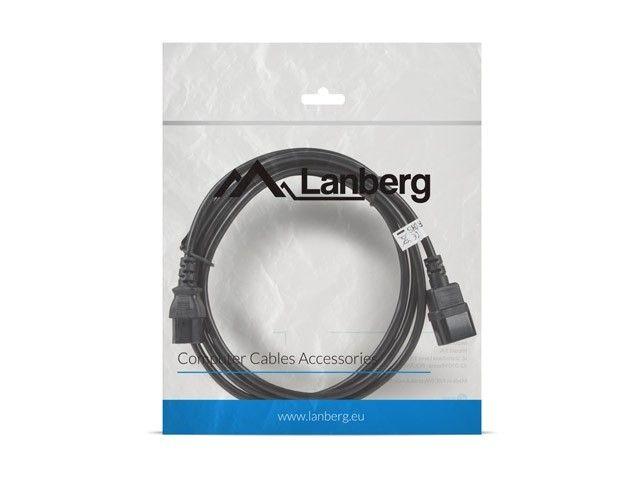 LANBERG Przedłużacz kabla zasilającego IEC 320 C13 - C14 VDE 3M czarny