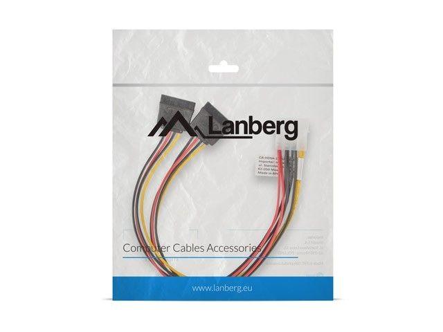 LANBERG Kabel Molex zasilający - SATA x2 M/F 30cm