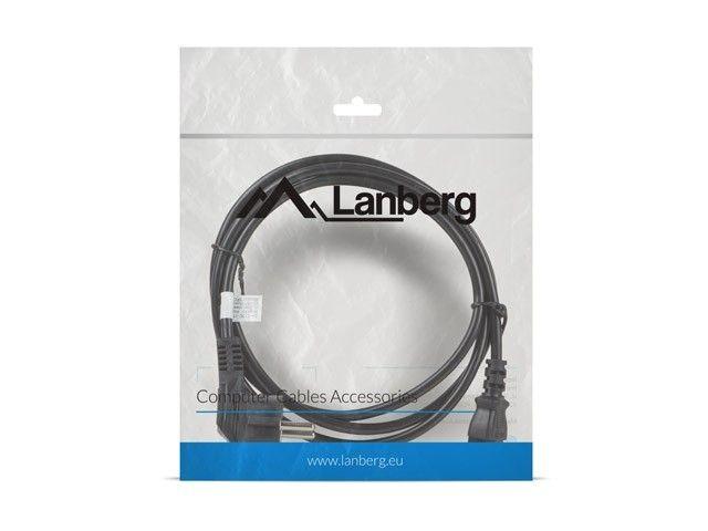 Lanberg Kabel zasilający CEE 7/7 - IEC 320 C13 VDE 1.8M czarny