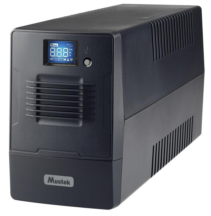 Mustek UPS|MUSTEK|480 Watts|800 VA|Wave form type Simulated sinewave|LineInteractive|800-LCD-LI-T10