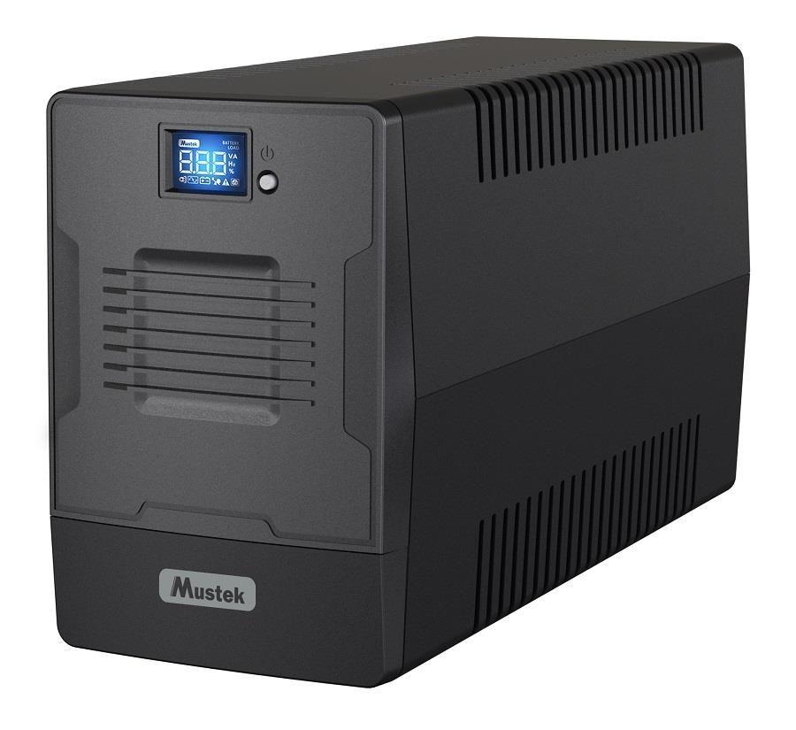 Mustek UPS|MUSTEK|1200 Watts|2000 VA|Wave form type Simulated sinewave|LineInteractive|Desktop/pedestal|2000-LCD-LI-T30