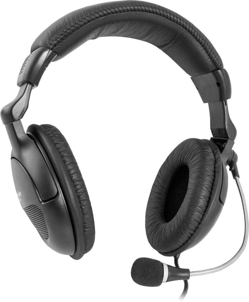 Defender Słuchawki z mikrofonem ORPHEUS HN-898 kabel 3m czarne
