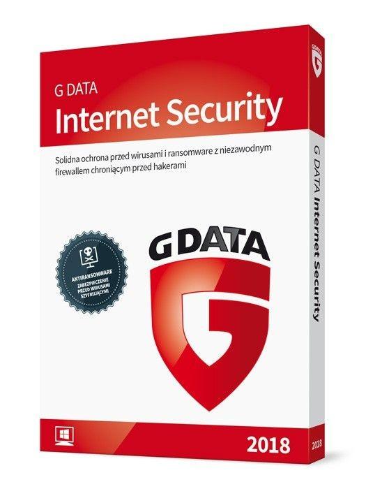 G DATA Internet Security licencja na 1 rok (3 komputery)