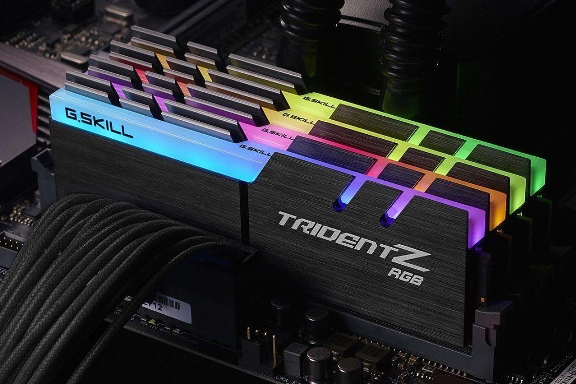 GSkill RAM TridentZ RGB Series - 32 GB (4 x 8 GB Kit) - DDR4 3000 UDIMM CL14