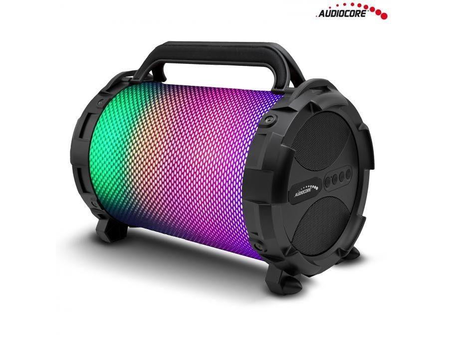 Audiocore Głośnik bazooka, bluetooth, FM, karta microSD AC885 LED, 2500mAh