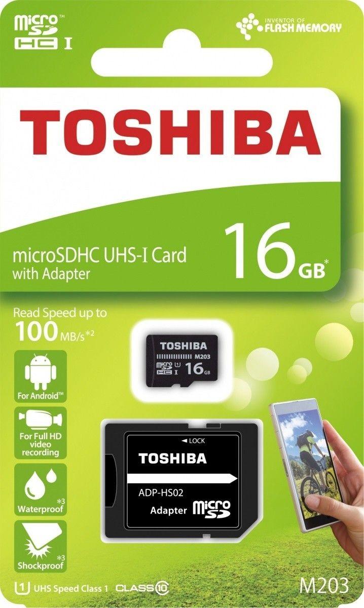 Toshiba Karta Pamięci Micro SDHC 16GB M203 Class 10 UHS-I + Adapter