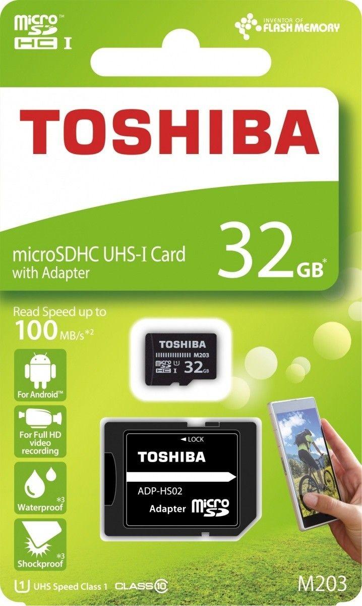 Toshiba microSD 32GB M203 UHS-I U1 adapter