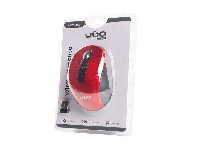 UGO Mysz bezprzewodowa MY-02 2.4GHz 1800DPI optyczna czerwona