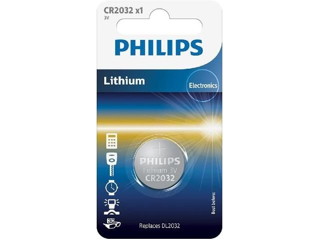 Philips Bateria Lithium 3.0V coin 1szt. blister (20.0 x 3.2) CR2032