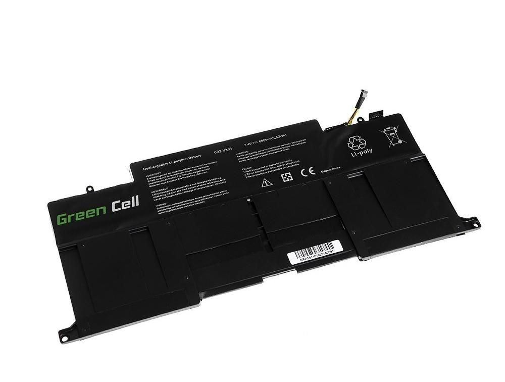 Green Cell Bateria do Asus UX31 C22-UX31 7,4V 6,2Ah