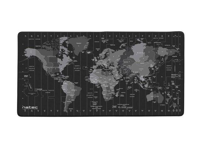 NATEC Podkładka pod mysz Time zone Map Maxi 800x400